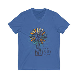 Free as the Wind Unisex Jersey Short Sleeve V-Neck Tee