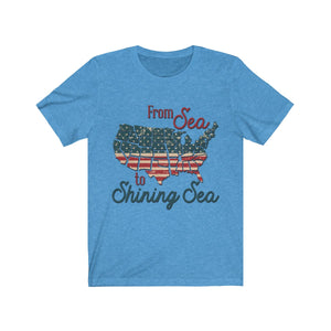 From Sea to Shining Sea Short Sleeve Tee