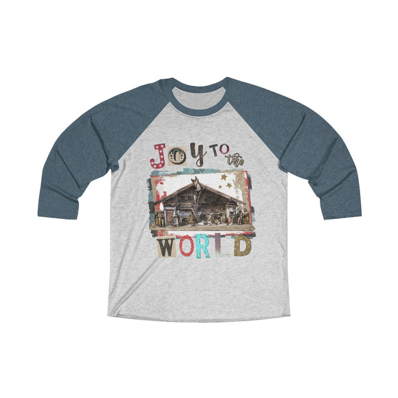 Joy to the World Tri-Blend 3/4 Raglan Tee