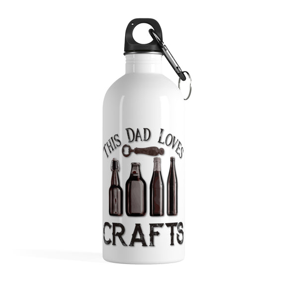 This Dad Loves Crafts Stainless Steel Water Bottle