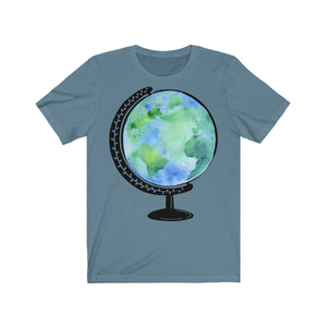 Watercolor Globe Short Sleeve Tee
