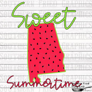 Alabama Sweet Summertime Digital Graphic
