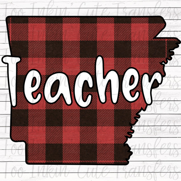 AR Plaid Teacher Transfer