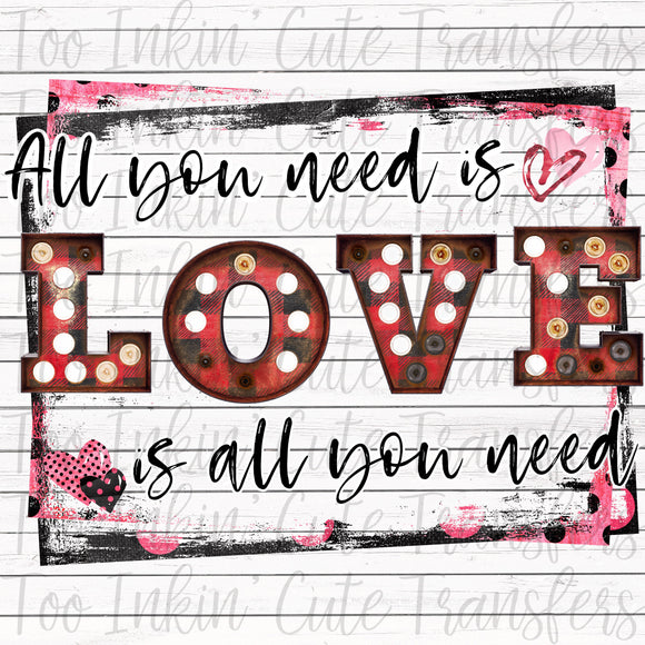 All You Need is Love Marquee Transfer
