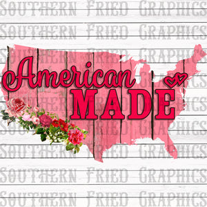 Pink American Made Digital Graphic