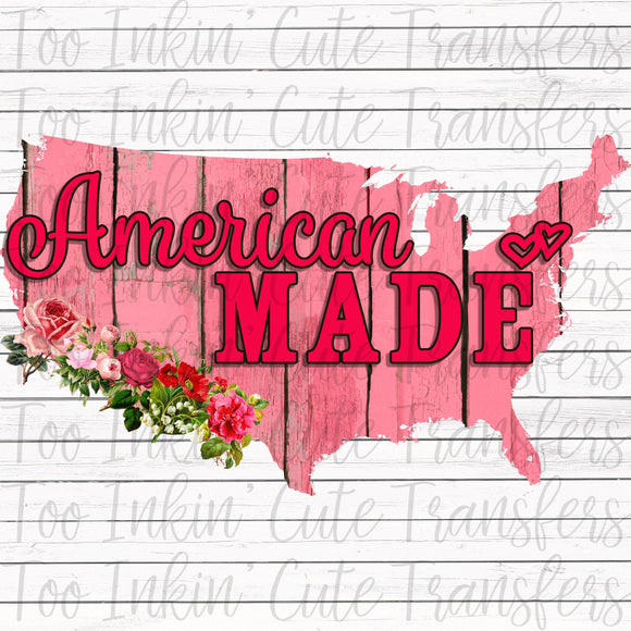 Pink American Made Transfer