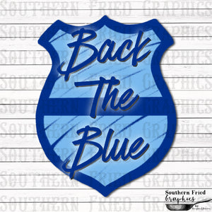 Back the Blue Digital Graphic