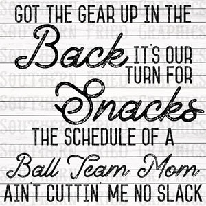 Old Town Road Inspired Ball Team Mom Graphic