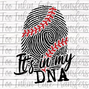 Baseball, It's in my DNA Transfer