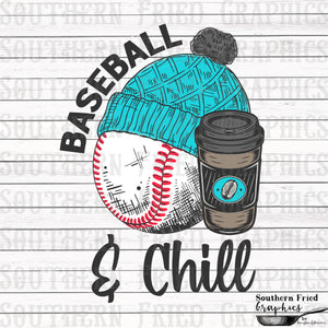 Baseball and Chill Digital Graphic