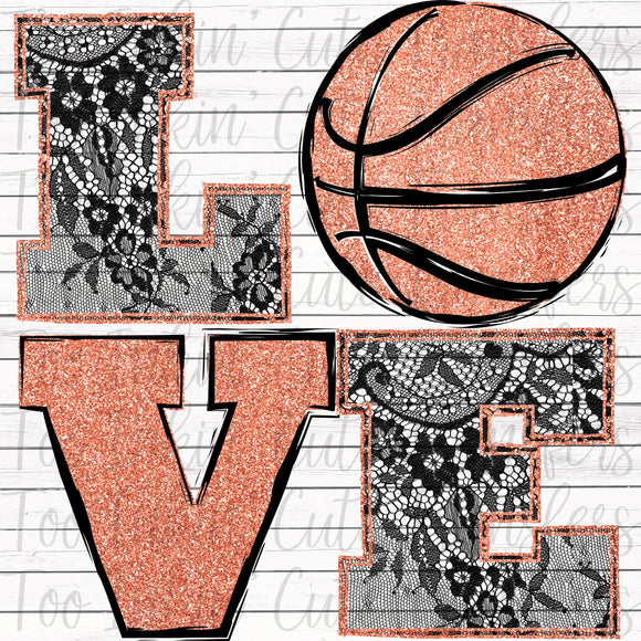 Lace Basketball Love Transfer
