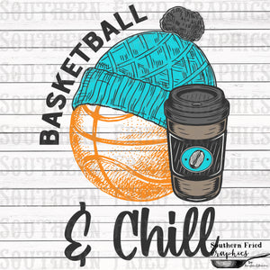 Basketball and Chill Digital Graphic