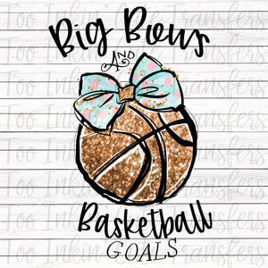 Big Bows & Basketball Goals Transfer