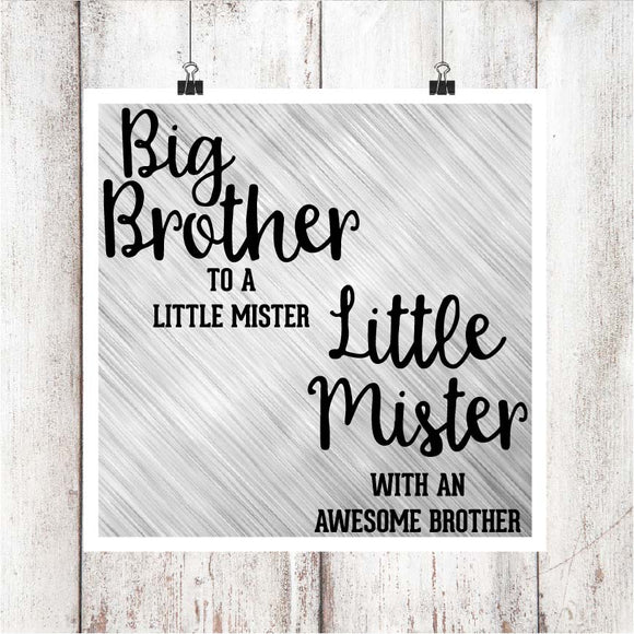 Big Brother/Little Mister Digital Graphics Set