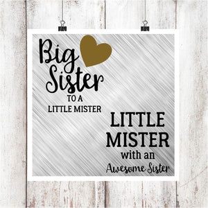 Big Sister/Little Mister Digital Graphics Set