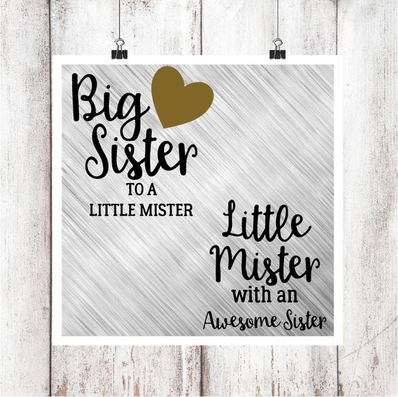 Big Sister/Little Mister Digital Graphics Set V2