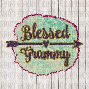 Blessed Grammy Glitter Digital Graphic