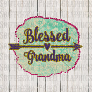Blessed Grandma Glitter Digital Graphic