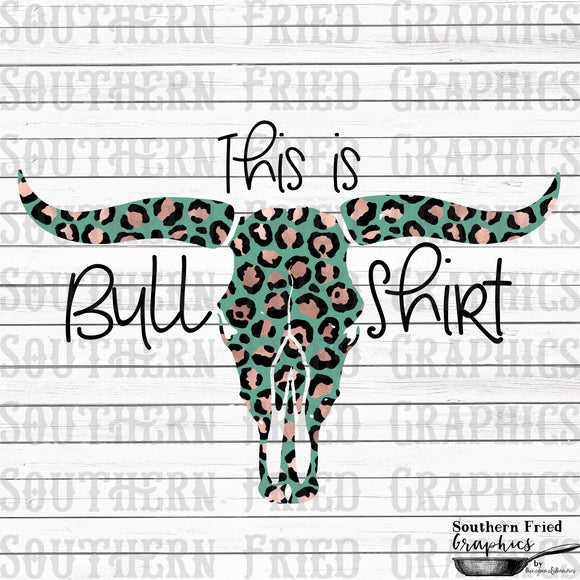 This is Bull Shirt V2 Leopard Digital Graphic