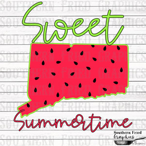 Connecticut Sweet Summertime Digital Graphic