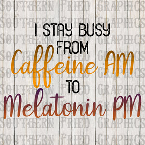 Caffeine to Melatonin Digital Graphic