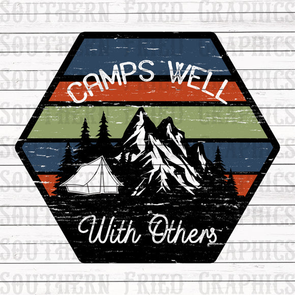 Camps Well with Others Digital Graphic
