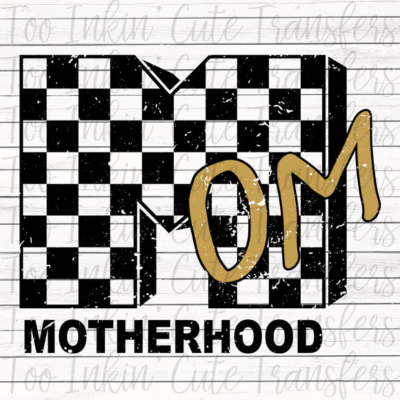 Checkered MTV Inspired Motherhood Sublimation Transfer