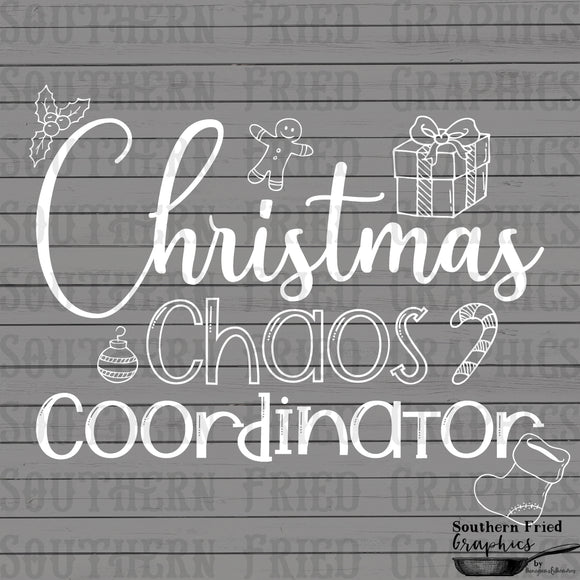 Christmas Chaos Coordinator Screen Print Transfer RTS