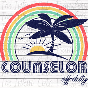 Counselor Off-Duty Sublimation Transfer