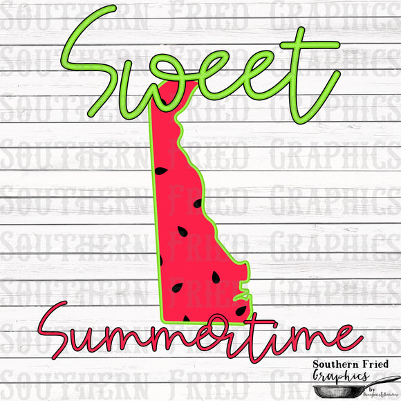 Delaware Sweet Summertime Digital Graphic