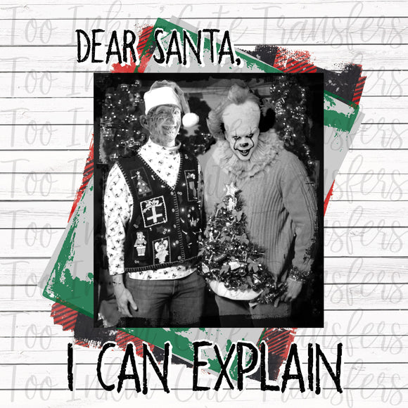 Dear Santa, I Can Explain Halloween Transfer