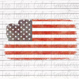 Distressed American Flag Transfer