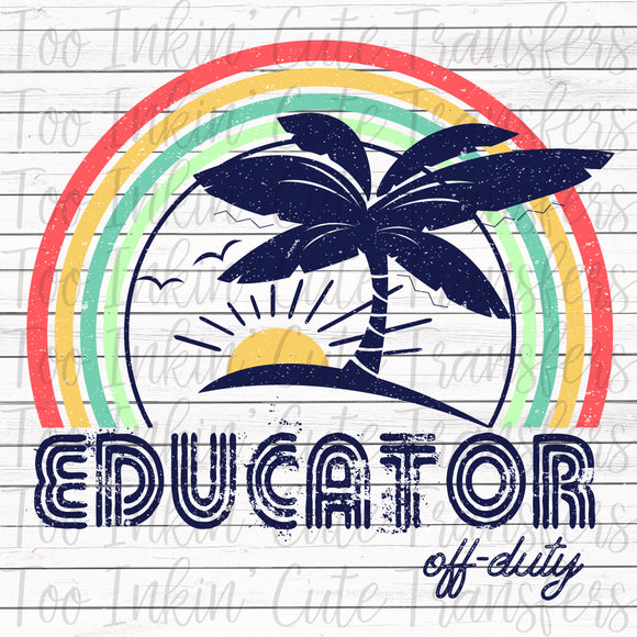 Educator Off-Duty Sublimation Transfer