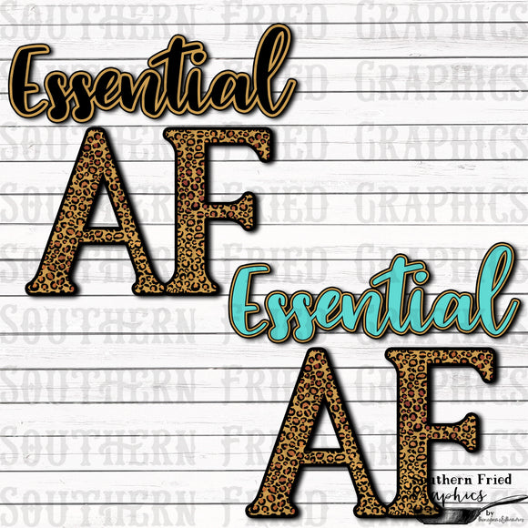 Essential AF Graphic Set/Includes Black and Aqua Leopard Versions