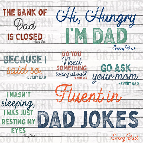 Every Dad Quotes Digital Graphic Bundle