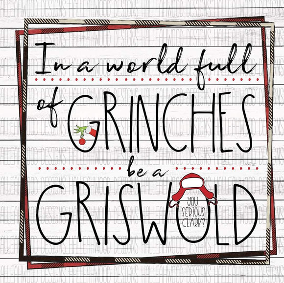 Be a Griswold Screen Print Transfer RTS