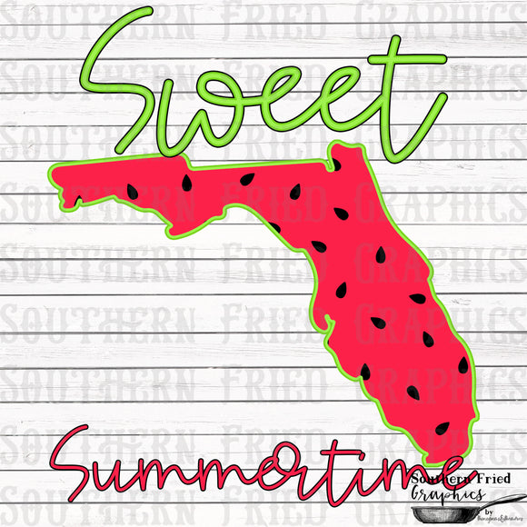 Florida Sweet Summertime Digital Graphic