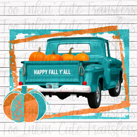 Happy Fall Y'all Truck Transfer