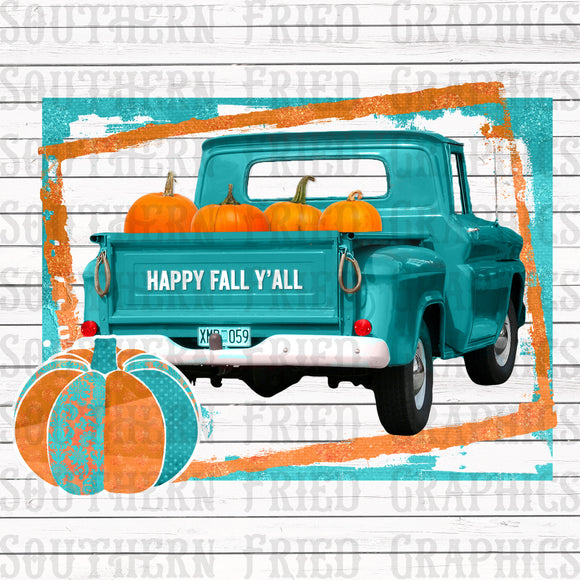 Happy Fall Y'all Digital Graphic