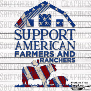 Support American Farmers and Ranchers Digital Graphic