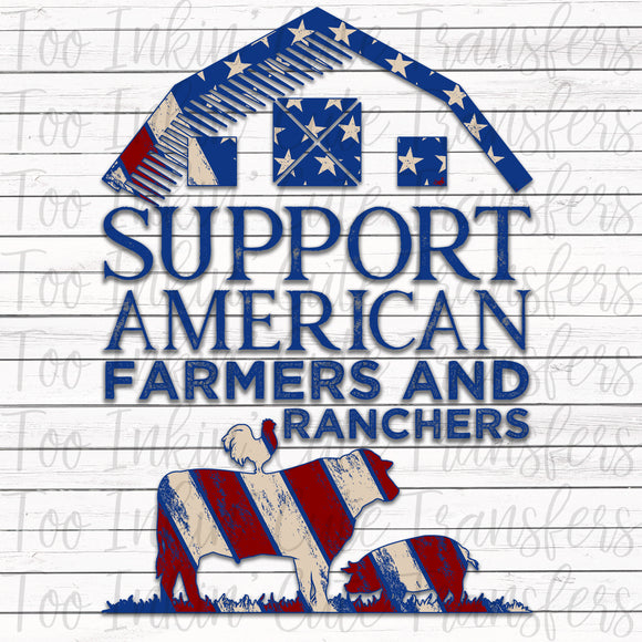 Support American Farmers and Ranchers Sublimation Transfer