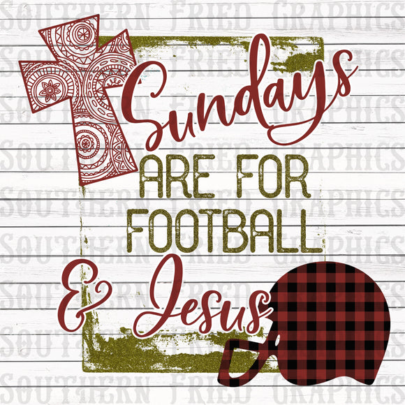 Sundays are for Football & Jesus Digital Graphic