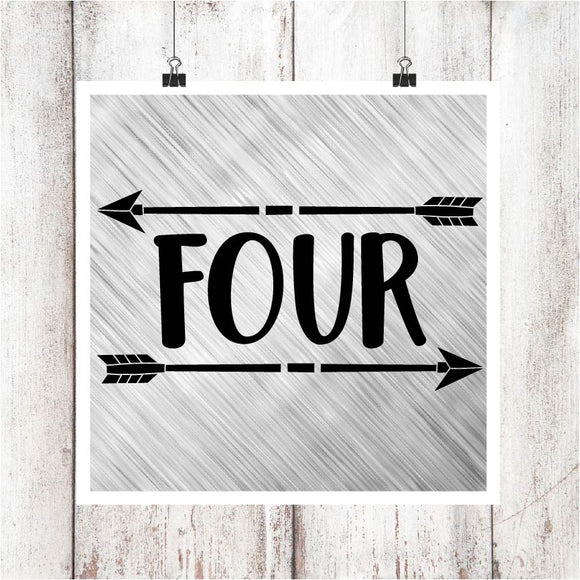 Four with Arrows Digital Graphics