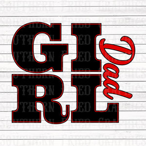 Girl Dad Red Digital Graphic