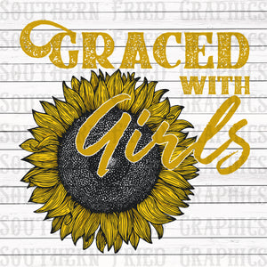 Graced with Girls Digital Graphic