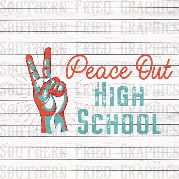 Peace Out High School Graphic