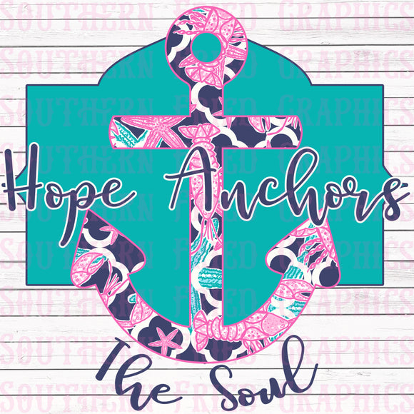 Hope Anchors the Soul Digital Graphic