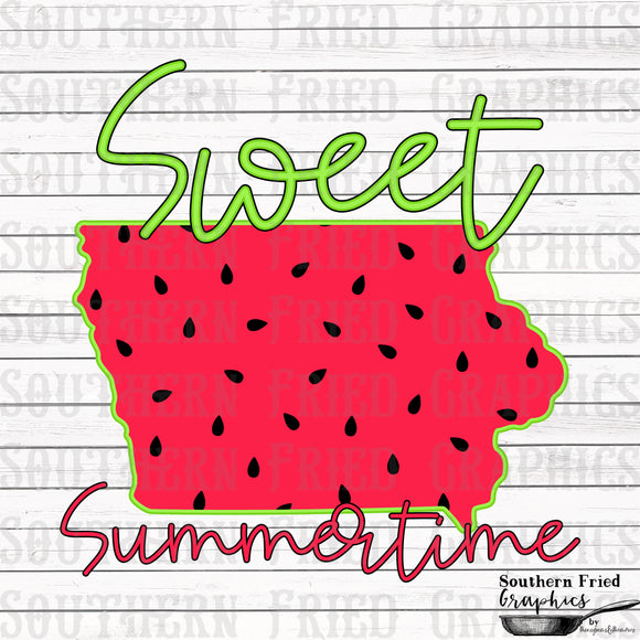 Iowa Sweet Summertime Digital Graphic