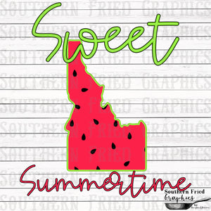 Idaho Sweet Summertime Digital Graphic