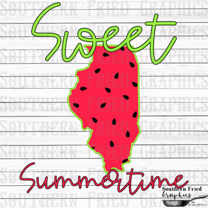 Illinois Sweet Summertime Digital Graphic